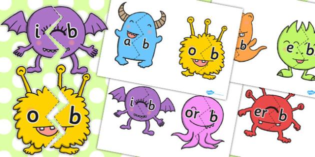 Final B Sound Monster Jigsaws - final, b, sound, monster, jigsaws