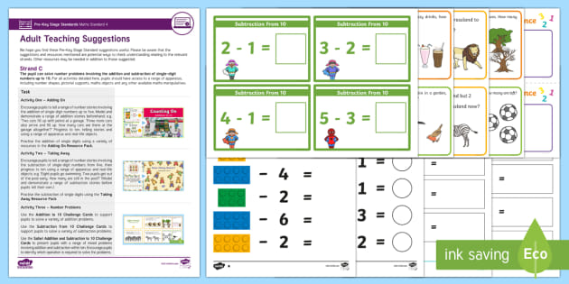 Pre-Key Stage Standards Maths Standard 4 Strand C Resource Pack