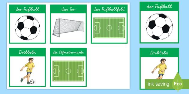 Fussball Wort Und Bildkarten Sport Weltmeisterschaft