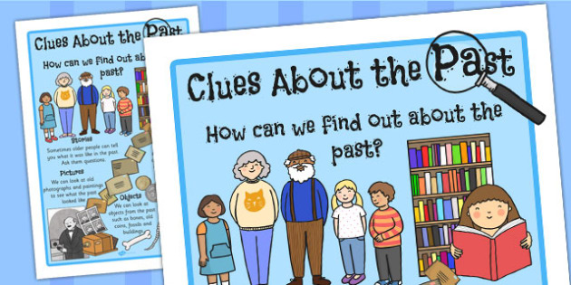 Clues About the Past Display Poster - display, poster, clue, past