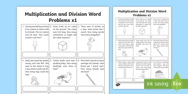 Australia Multiplication and Division Word Problems x1 Activity Sheet - multiplication, division, word problem, problem solving, maths,Australia, 1x, x1, times tables, work