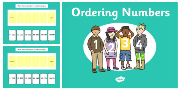 Ordering 5 Digit Numbers PowerPoint - ordering, 5 digit, numbers