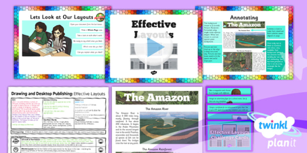 Computing: Drawing and Desktop Publishing: Effective Layouts Year 3 Lesson Pack 6