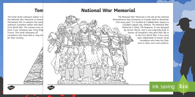 Canada Remembrance Day Mindfulness Colouring Pages