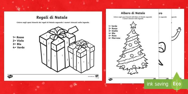Disegni Di Natale Da Unire Con I Puntini.Disegni Di Natale Con I Numeri Da Colorare Scuola Primaria