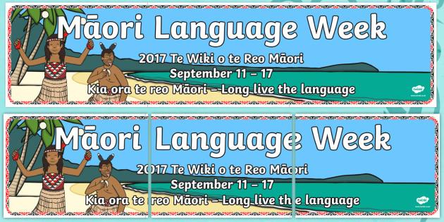 Maori Language Week Display Banner