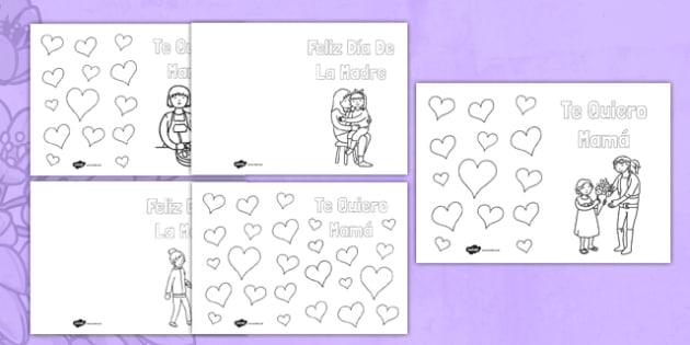 Tarjeta para colorear El día de la Madre - Mother\'s Day, card