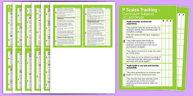 P Scales Tracking Curriculum Subjects Pocket Book