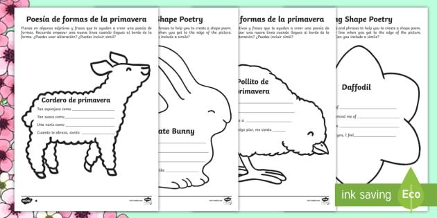 higher ability ks1 spring shape poetry differentiated worksheets. Black Bedroom Furniture Sets. Home Design Ideas