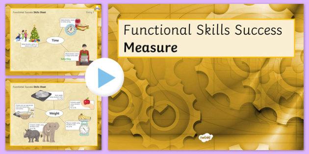 Functional Skills Measure Success PowerPoint - KS4, KS5, adult education, maths, numeracy, functional skills, SEN, assessment, objectives