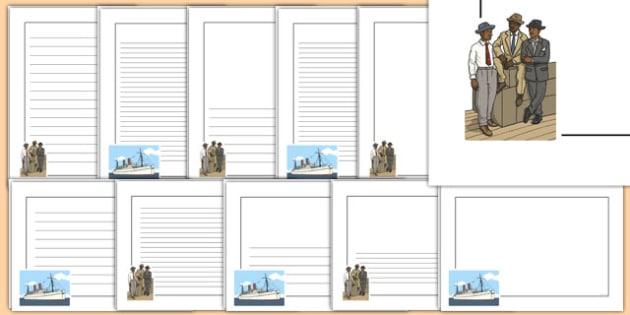 The Windrush Page Borders - windrush, page borders, borders