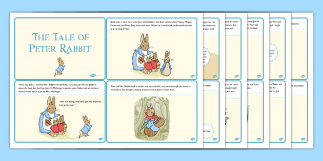 The Tale of Peter Rabbit Story Cards - peter, rabbit, story cards