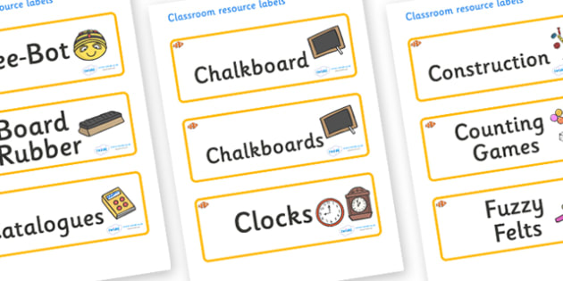 Clownfish Themed Editable Additional Classroom Resource Labels - Themed Label template, Resource Label, Name Labels, Editable Labels, Drawer Labels, KS1 Labels, Foundation Labels, Foundation Stage Labels, Teaching Labels, Resource Labels, Tray Labels