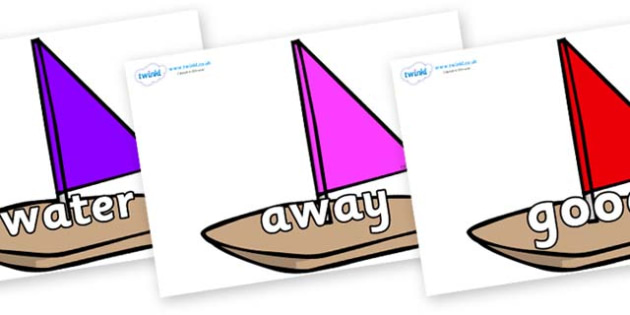 Next 200 Common Words on Toy Boats - Next 200 Common Words on  - DfES Letters and Sounds, Letters and Sounds, Letters and sounds words, Common words, 200 common words
