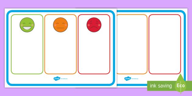 FREE! Behaviour Management Traffic Light Face Cards