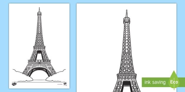 New Der Eiffelturm Ausmalbild Frankreich Französisch Turm