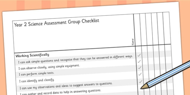 2014 Curriculum Year 2 Science Assessment Group Checklist - target