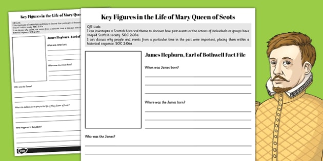 Mary Queen of Scots Key Figures Fact Files - mary, scots, fact