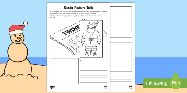 Santa Picture Talk Activity Sheet