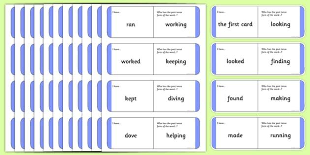 Australian Year 2 Verb Tenses Loop Cards - australia, Phonics, grammar, language, literacy, verb tenses, verbs, tenses, loop cards, talking, listening, ACELA1452