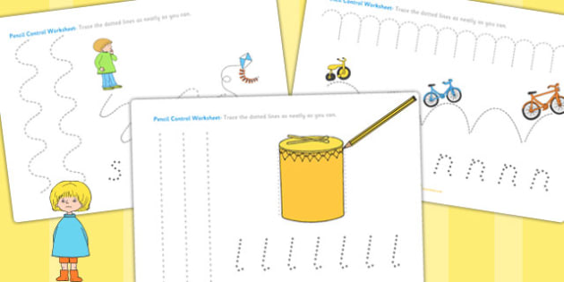 Pencil Control Sheets to Support Teaching on Titch - fine motor skills, stories, books