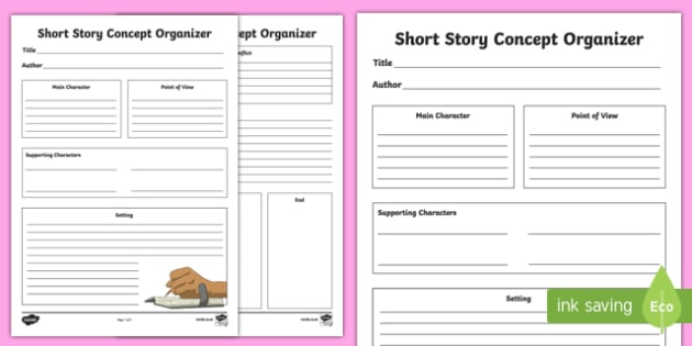 Short Story Concept Organizer Worksheet / Activity Sheet, worksheet