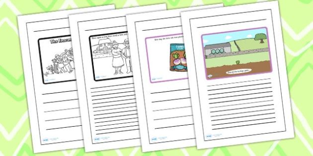 The Enormous Turnip Story Writing Frames - the enormous turnip, writing frames, writing guides, writing aid, writing template, guides, themed writing frame