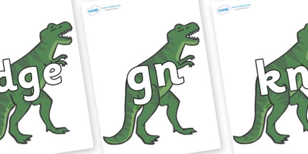 Silent Letters on T-Rex - Silent Letters, silent letter, letter blend, consonant, consonants, digraph, trigraph, A-Z letters, literacy, alphabet, letters, alternative sounds