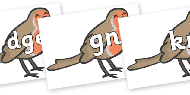 Silent Letters on Robins - Silent Letters, silent letter, letter blend, consonant, consonants, digraph, trigraph, A-Z letters, literacy, alphabet, letters, alternative sounds