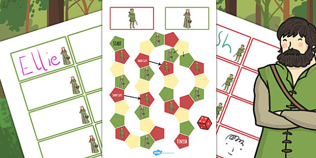 Robin Hood Themed Editable Board Game - robin, hood, board game