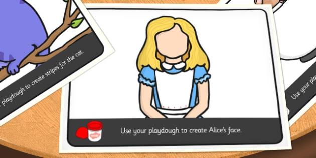 Alice in Wonderland Playdough Mats - alice in wonderland, playdough mats