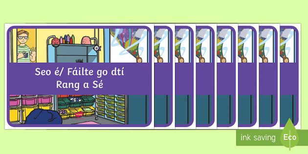 Display Signs and Labels Gaeilge - Gaeilge KS1 Display, classroom resources, display, classroom sign, Irish