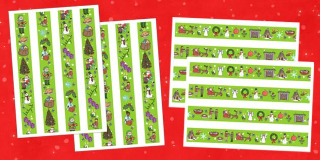 Themed Christmas Display Borders - christmas, borders, display