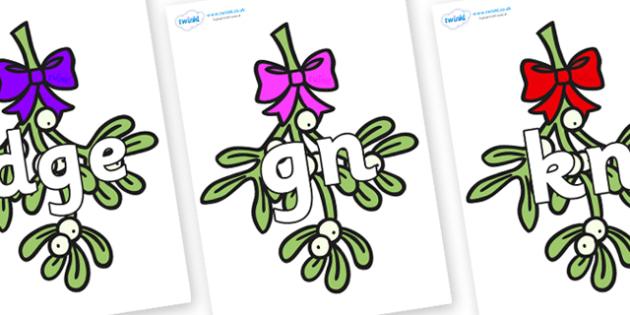 Silent Letters on Mistletoe - Silent Letters, silent letter, letter blend, consonant, consonants, digraph, trigraph, A-Z letters, literacy, alphabet, letters, alternative sounds