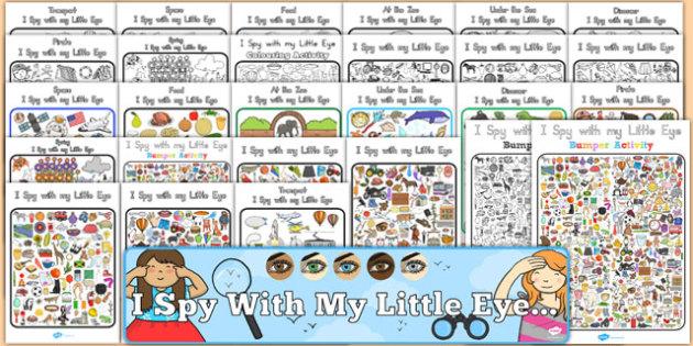 I Spy With My Little Eye Activity Pack - australia, I spy, eye