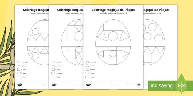 Coloriage Magique De Paques