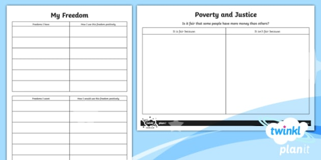 RE: Justice and Freedom Year 6 Home Learning Tasks