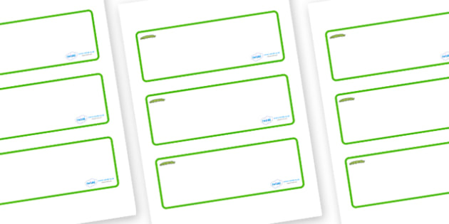 Caterpillar Themed Editable Drawer-Peg-Name Labels (Blank) - Themed Classroom Label Templates, Resource Labels, Name Labels, Editable Labels, Drawer Labels, Coat Peg Labels, Peg Label, KS1 Labels, Foundation Labels, Foundation Stage Labels, Teaching