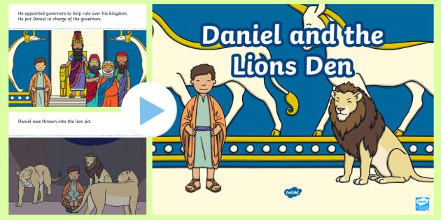 Daniel and the Lion's Den Story PowerPoint - daniel and the lions den, daniel and the lions den powerpoint, daniel and the lions den story, bible story, bible stories, kindergarten, elementary, usa