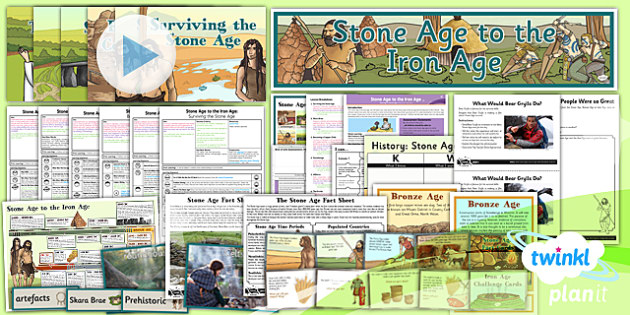 History: Stone Age to the Iron Age UKS2 Unit Pack