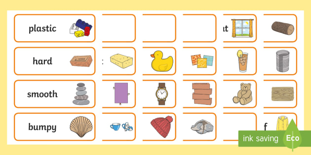 949acc22e93212 FREE! - Materials Word Cards - materials