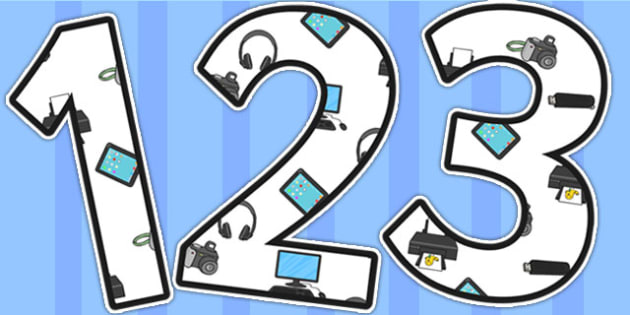 ICT Area Themed Display Numbers - ICT, IT, ICT area, numbers