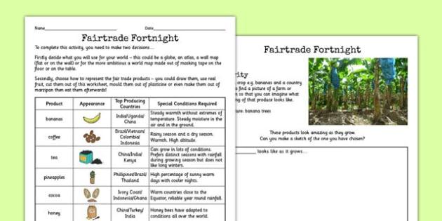 Fairtrade Activity Where Things Grow - activities, fair, trade