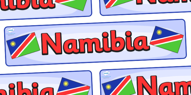 Namibia Display Banner - Namibia, Olympics, Olympic Games, sports, Olympic, London, 2012, display, banner, sign, poster, activity, Olympic torch, flag, countries, medal, Olympic Rings, mascots, flame, compete, events, tennis, athlete, swimming
