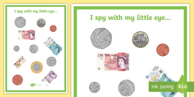 money i spy activity money value coins banknotes worth. Black Bedroom Furniture Sets. Home Design Ideas
