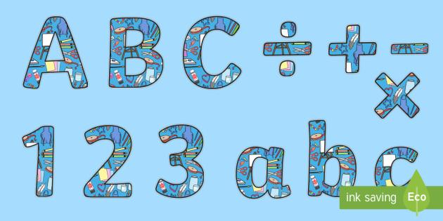 Art Equipment Blue Display Lettering - art, equipment, display lettering