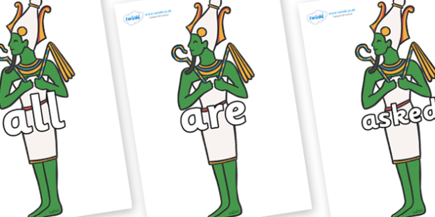 Tricky Words on Egpytian Icons - Tricky words, DfES Letters and Sounds, Letters and sounds, display, words