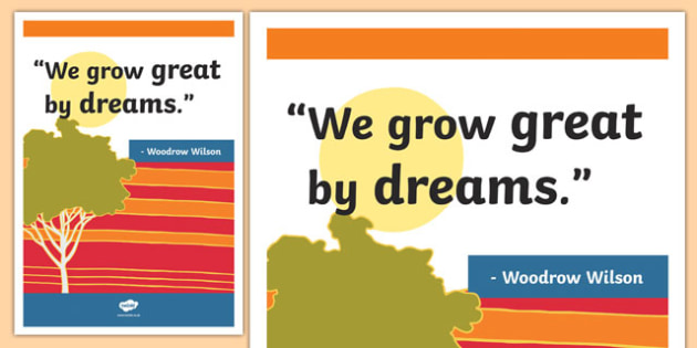 Wilson Inspirational Classroom Quote Display Poster - usa, america, inspirational quote, display, motivation, inspiration, Wilson