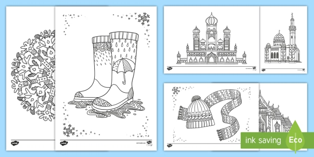 Ks2 January Coloring Pages Teacher Made