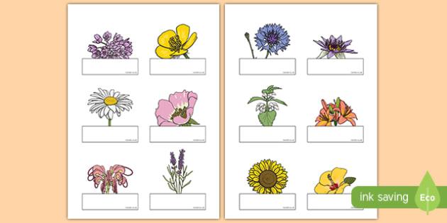 Floral Self-Registration Labels